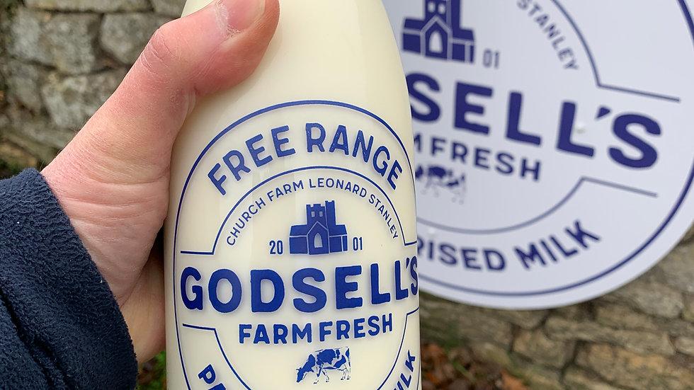 Godsell's Free Range Milk