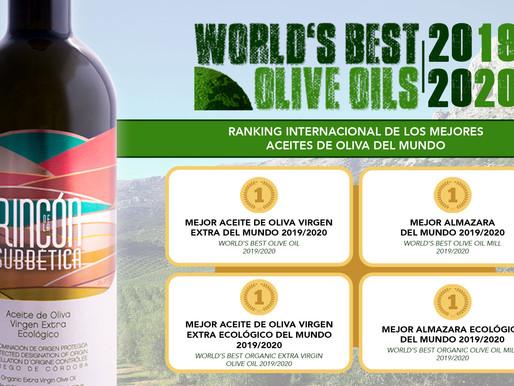 Almazaras de la Subbética revalida la calidad de su AOVE en el World's Best Olive Oil 2019/2020