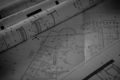 Home Architecture Plan in black and white