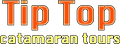 logo tip top catamaran in letters