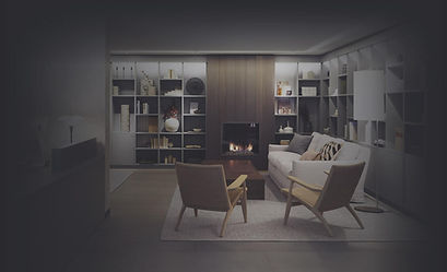 Beautiful and modern home interior with few light