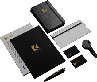 Klasic Property Services black tablet mock up
