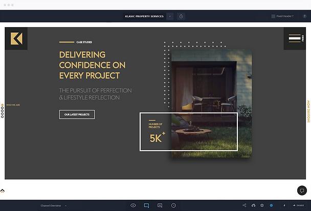 Klasic Property Services homepage mockup