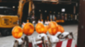 orange worksite signage lights