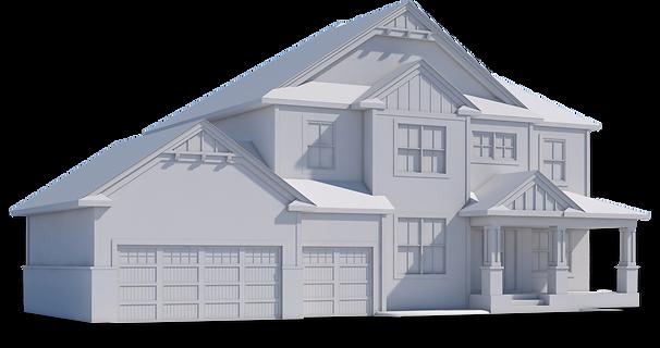 Brown 3D family house renderer