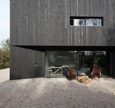 luxur dark wooden house