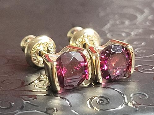 14k Rhodolite Earrings