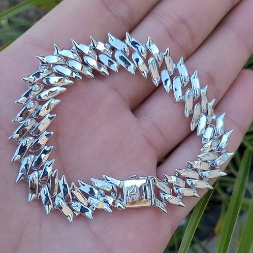 Koostum Spiked Cuban Link Bracelet