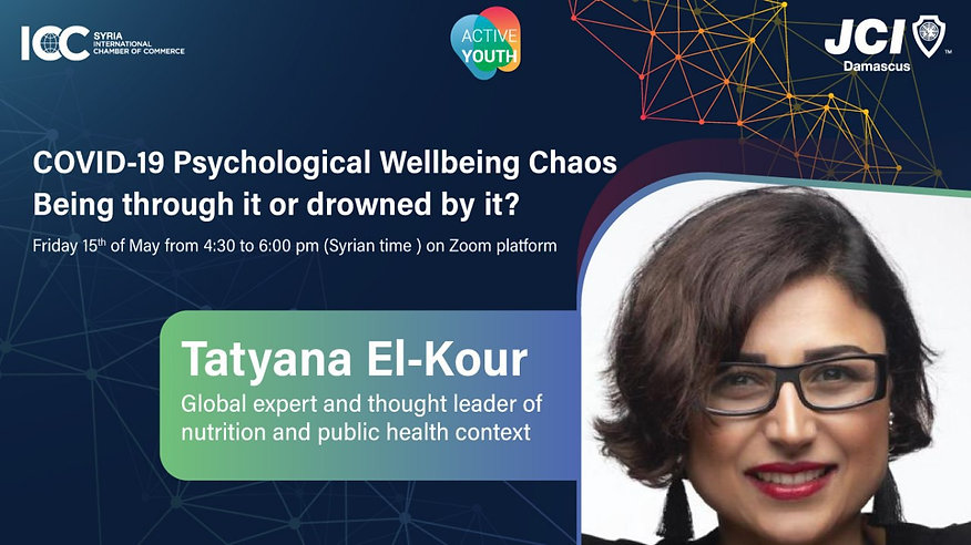 Tatyana El-Kour_COVID-19 psychological wellbeing chaos