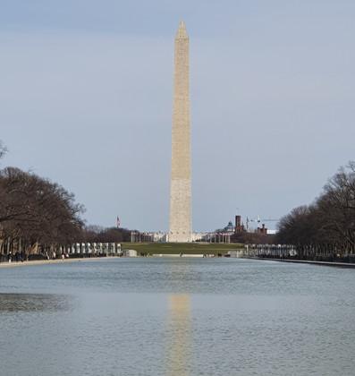 Reflecting Pool - Washington Monument ao fundo