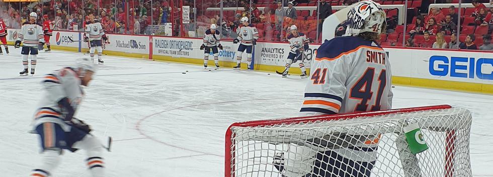 Aquecimento Edmonton Oilers