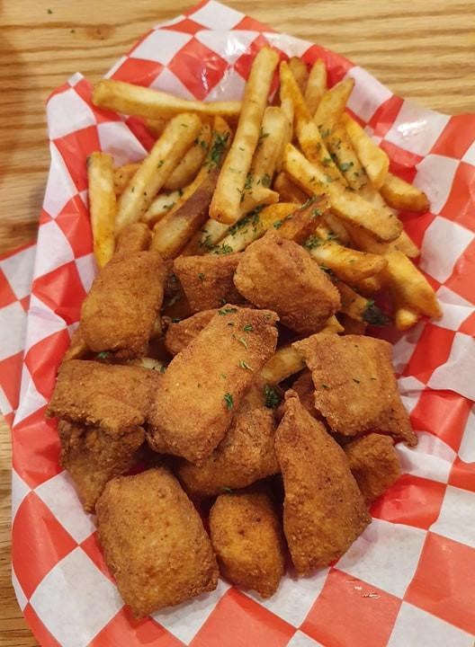 Fish and chips do Savannah Seafood Shack