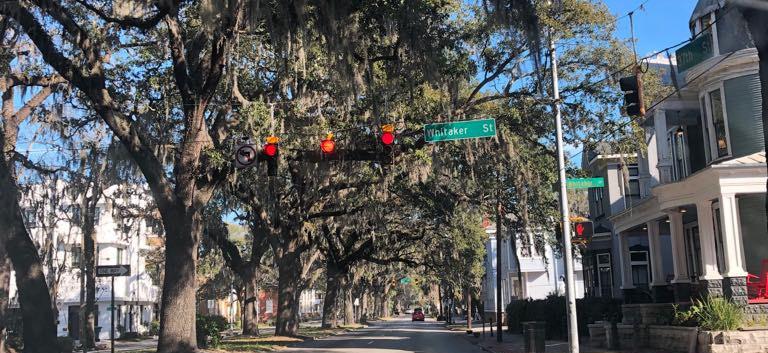 Chegando em Savannah