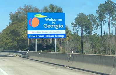 Entrando na Geórgia