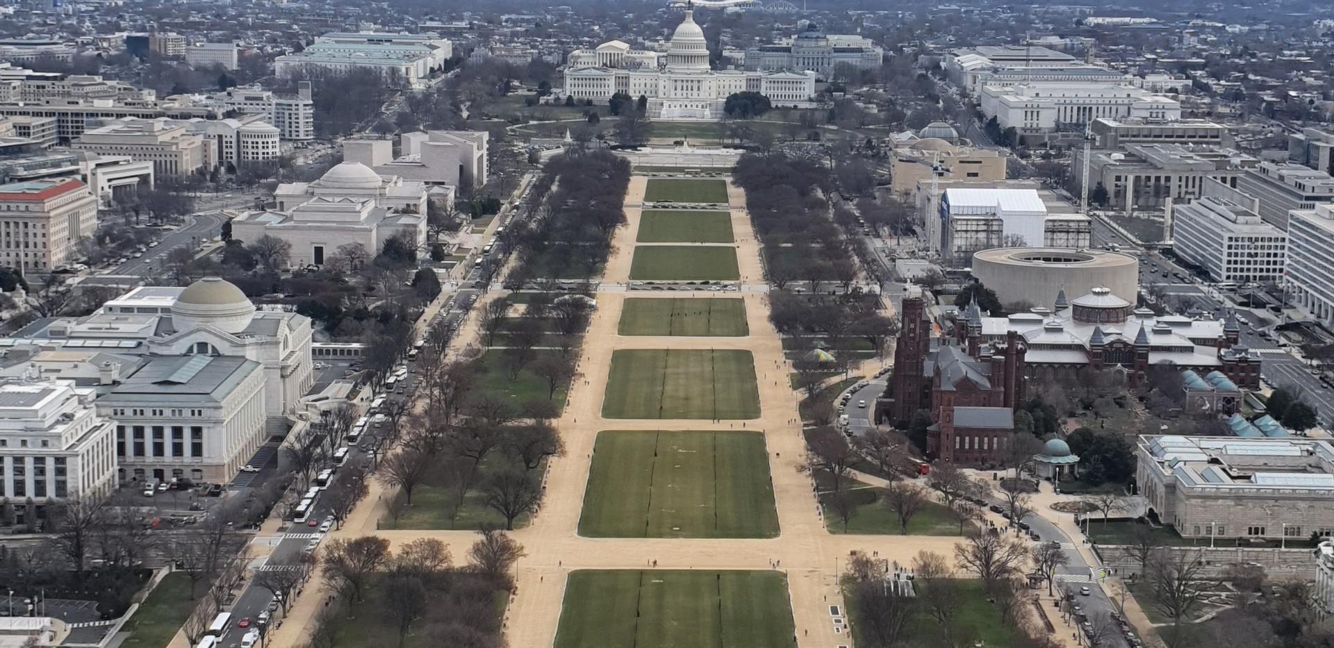 Vista leste - Washington Monument