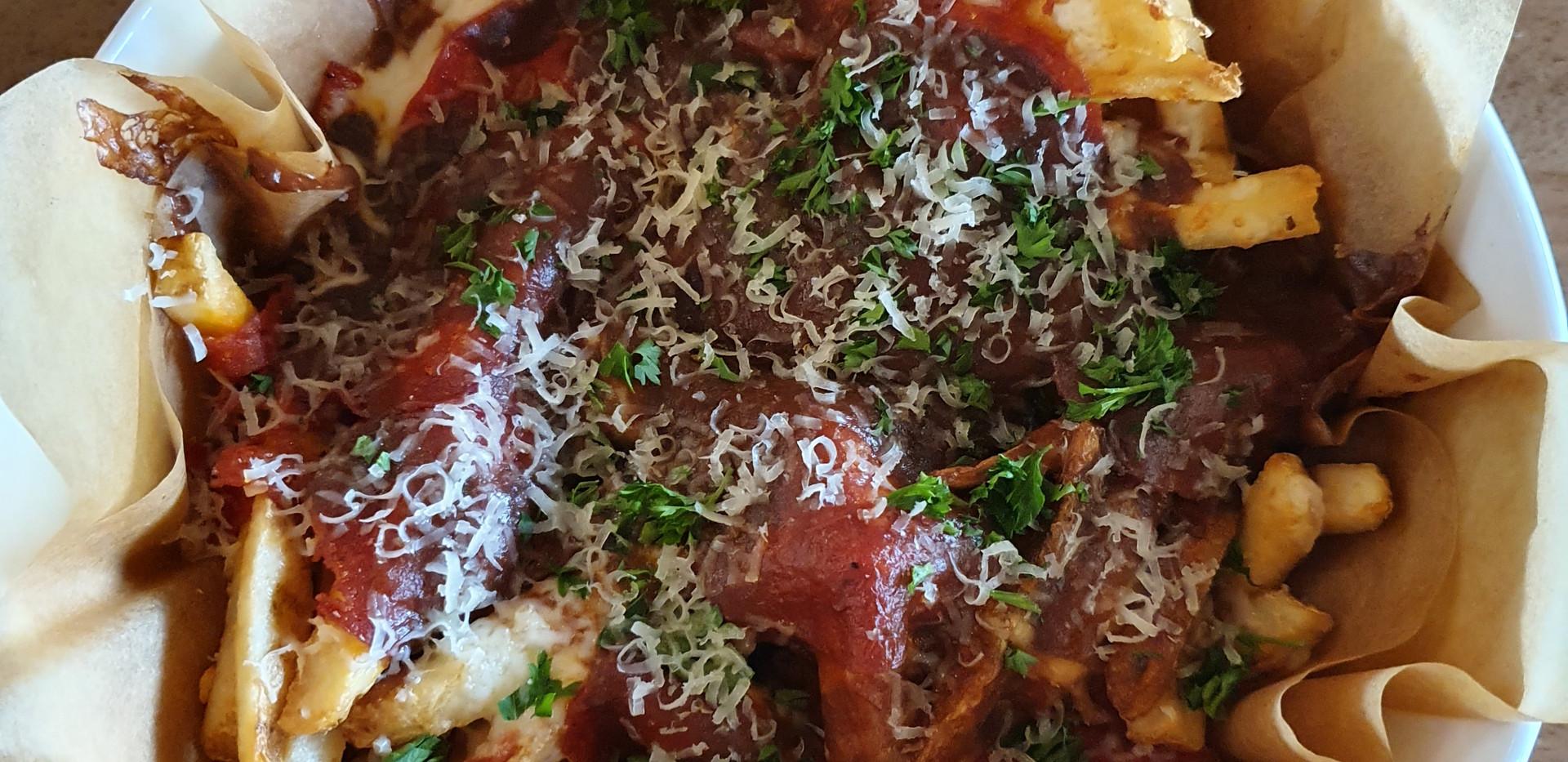 Poutine do Boston Pizza