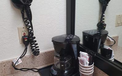 Secador e cafeteira