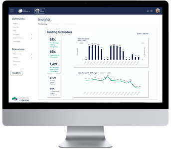 Cohesion Web Portal Building Occupancy Insights Dashboard