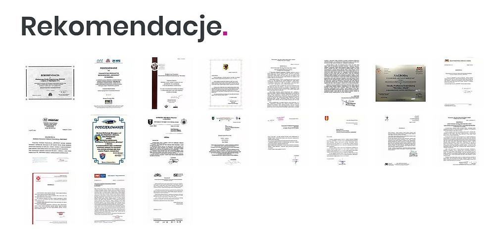 Rekomendacje lub referencje na stronach NGO