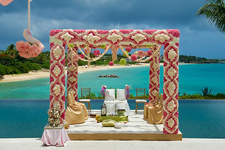 beach indian  wedding and decoration. in