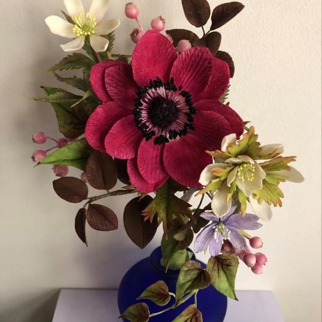 Atelier fleurs en porcelaine froide ou en sucre (1)