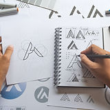 Graphic designer drawing sketch design c