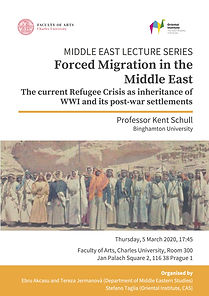 Forced Migration in the Middle East - The current Refugee Crisis as inheritance of WWI and its post-war settlements