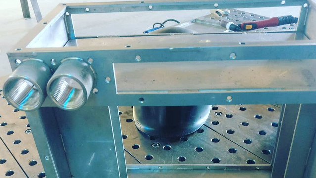 Frame welding and assembly example