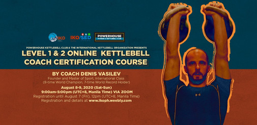 Level 1 & 2 ON-LINE Kettlebell Coach Certification Course