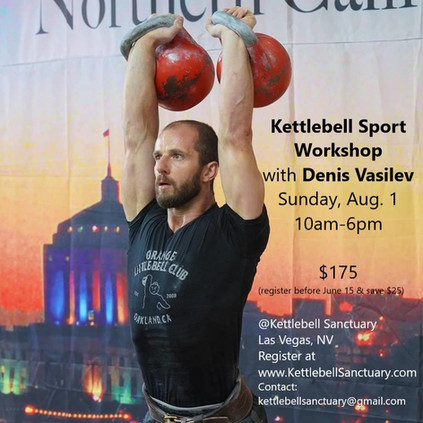Kettlebell Sport Workshop with Denis Vasilev