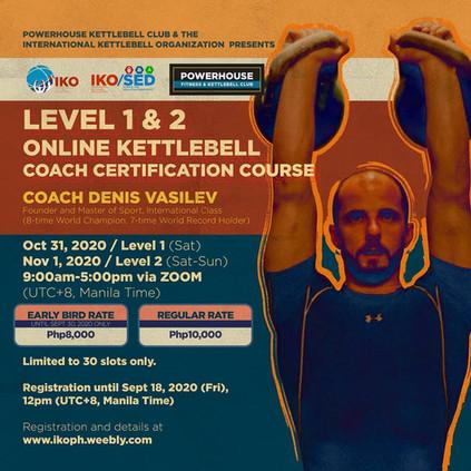 Level 1 & 2  Kettlebell Coach Certification
