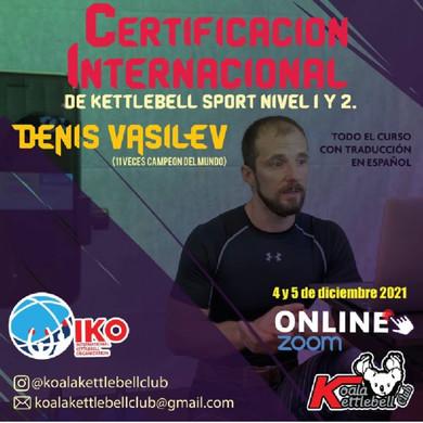 Certificacion Internacional de Kettlebell Sport NIVEL 1 Y 2