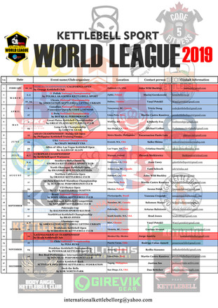 KB WL Calendar 2019