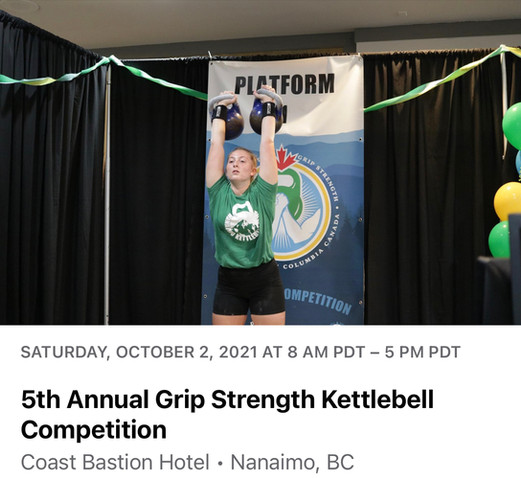 5th Annual Grip Strength Kettlebell Competition