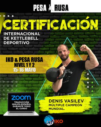 Certificacion Internacional de kettlebell deportivo