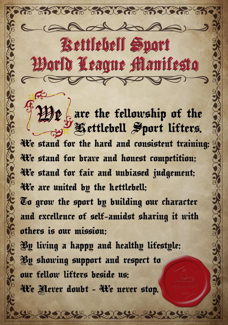 Kettlebell World League Manifesto