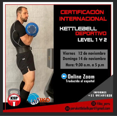Certificación Internacional Kettlebell Deportivo Level 1 y 2