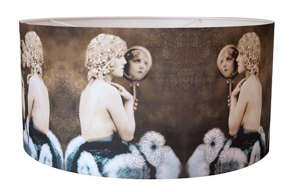 lady with mirror lampshade X LGE