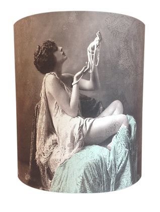 Lady with pearls lampshade SOLD OUT/ORDERS TAKEN
