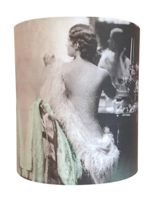 Lady at dresser lampshade SOLD OUT/ORDERS TAKEN