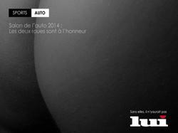LUI Magazine - Salon de l'auto 2014