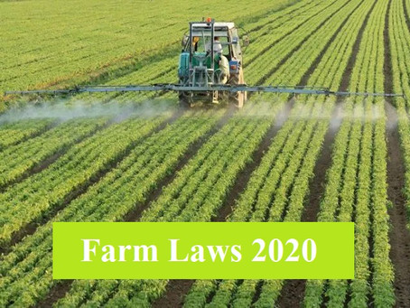CENTRE STATE DISPUTE ON FARM LAWS:  A LEGAL PERSPECTIVE