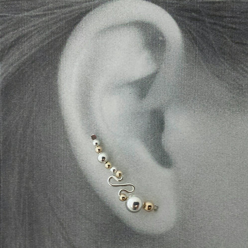 """""""S""""STYLE EAR-UPS W/ ALL METAL BEADS"""