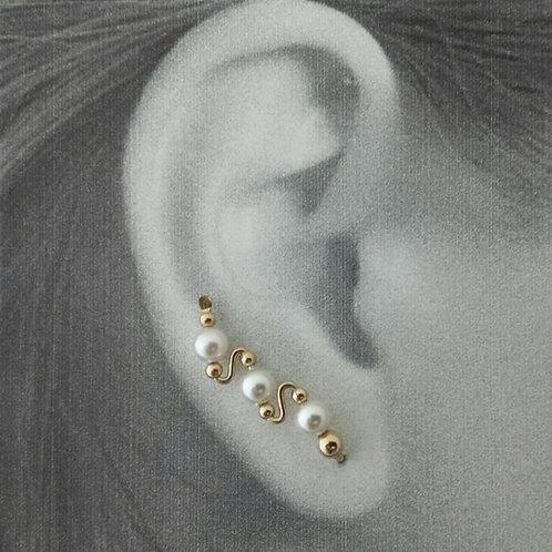 3 BEAD STYLE EAR-UPS
