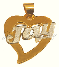 Name Heart Pendant