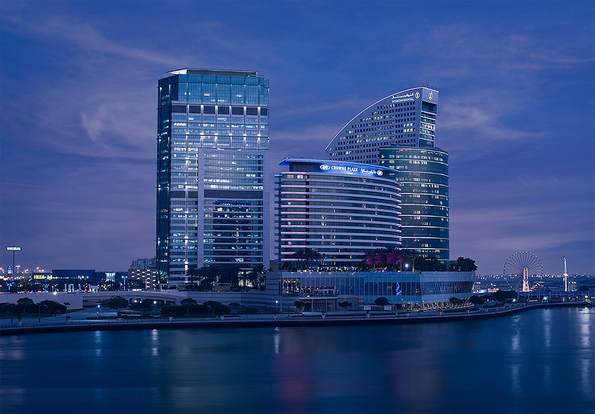 Architectural Exterior Photography Intercontinantal Hotel Dubai Festival City