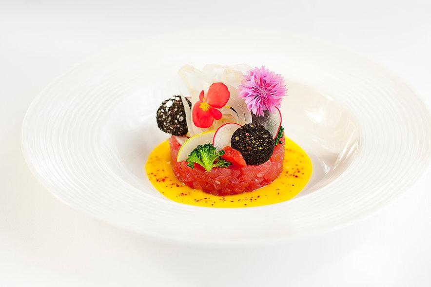 Park Hyat Tuna Tartare Professional Food Photography Dubai UAE