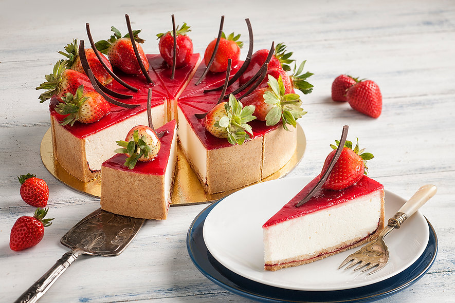 Strawberry Cheesecake Professional Dubai Food Photographer
