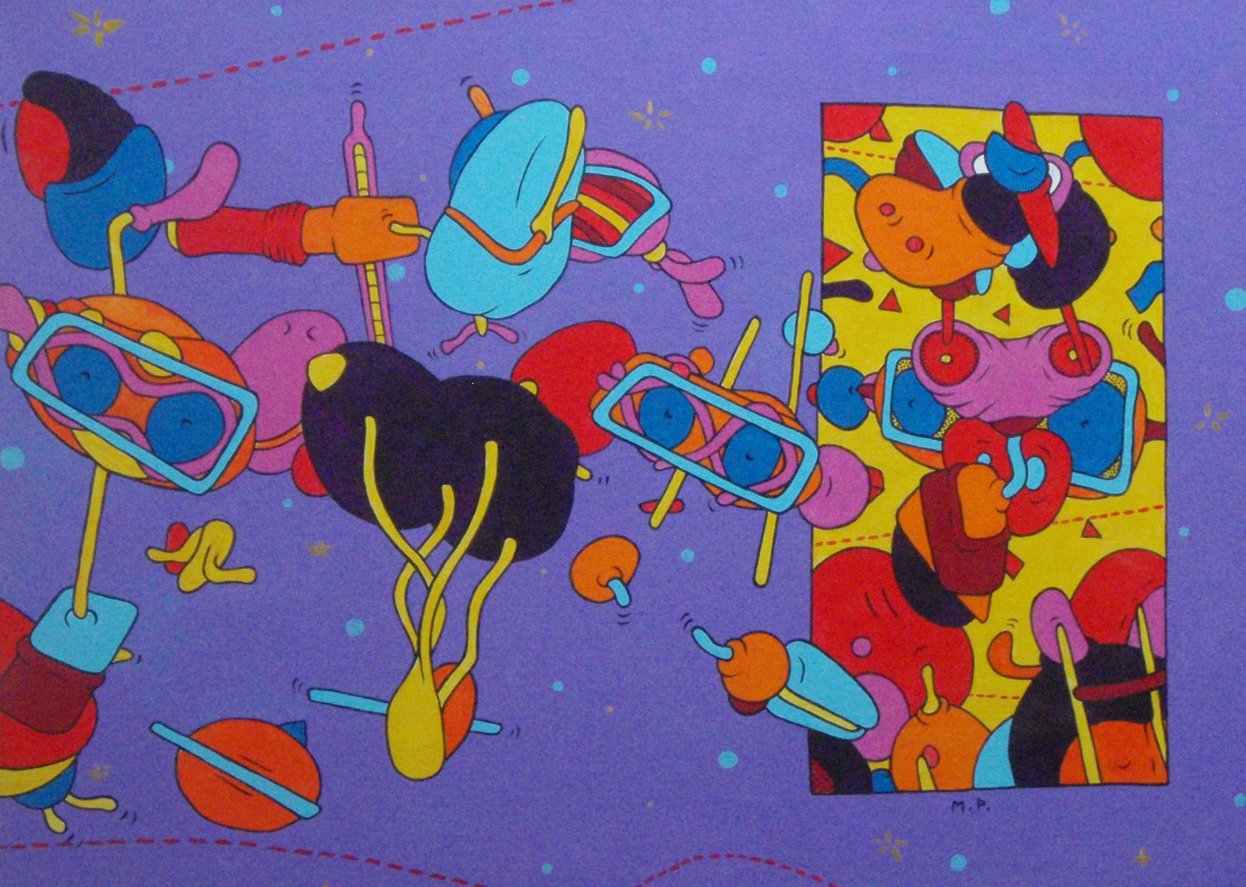 Solidoïdes en Folie (50x70)