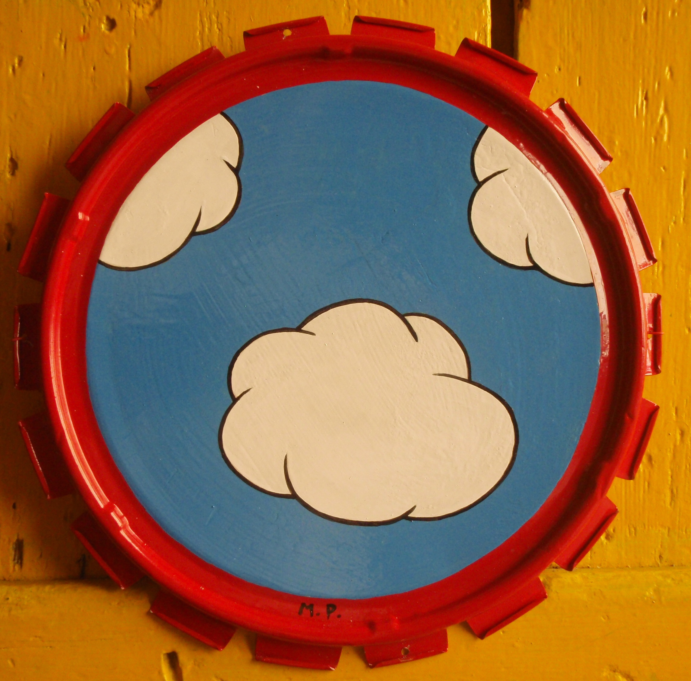OUI ! (real clouds) (30cm).